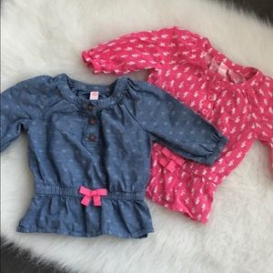 Baby girl Cherokee top bundle